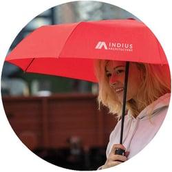 auto open and close umbrella with corporate brand