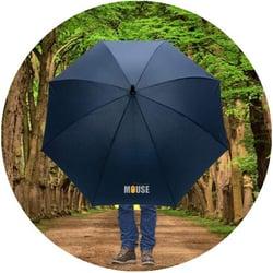 Storm proof umbrella with corporate brand