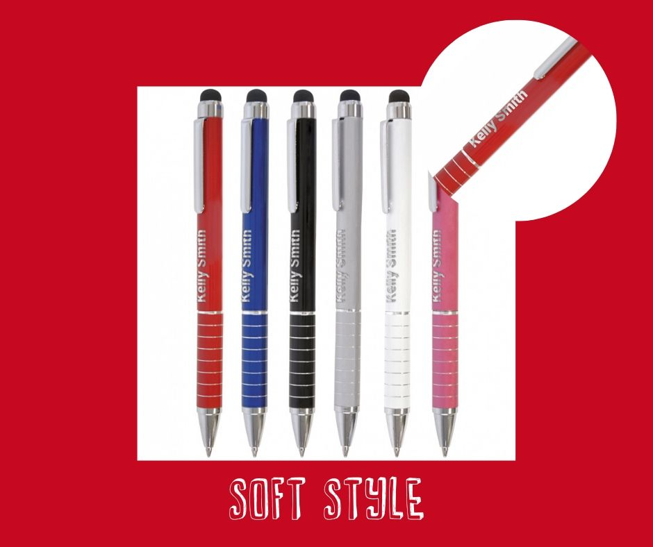 personalised branded products - HS Soft stylus pen