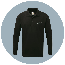 Long Sleeve Polo Shirt with company branding