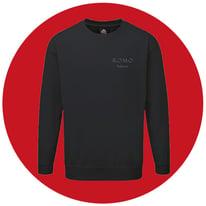 Sweatshirts with company logo