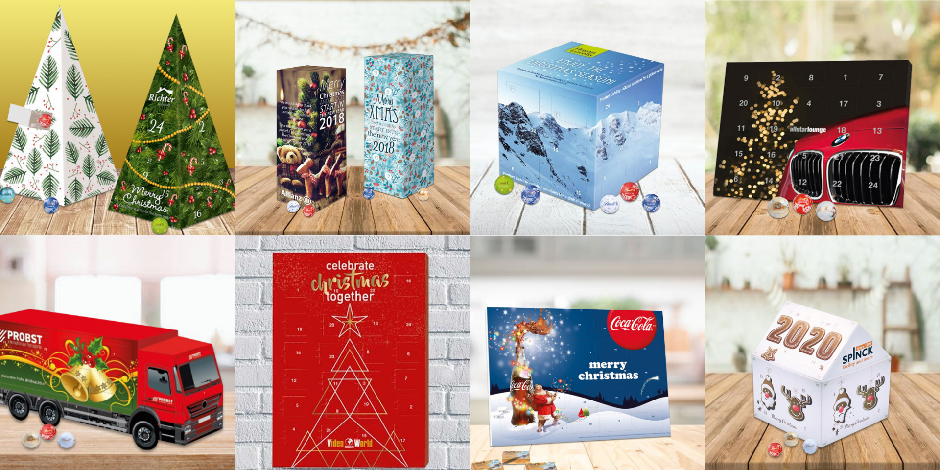 Promotional luxury advent calendars with your company logo